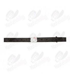 Belt girl Hello Kitty black shiny