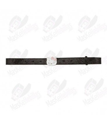 Belt girl Hello Kitty black shiny