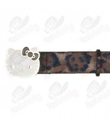 Cinturón Hello Kitty Leopardo