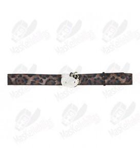 Cinturón Hello Kitty Leopardo