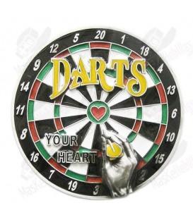 Dartboard. Heart Bullseye