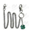 Four-Leaf Clover Wallet Chain