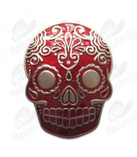Red Tattoo Skull