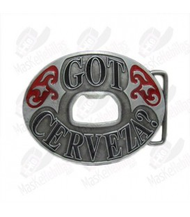 Cerveza. Beer Bottle Opener Buckle